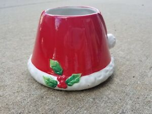 Santa Hat Jar Candle Topper NEW in box!