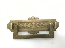 ANTIQUE BRASS DRAWER PULL RESTORATION HARDWARE ORNATE CABINET DESK