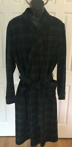 Pendleton Mens Size XL Authentic Black Watch Tartan Robe 100% Virgin Wool USA