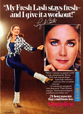 1983 Wonder Woman Lynda Carter photo Maybelline Mascara promo print ad