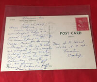 2 Cents US Stamp on Oregon Coast Post Card Heceta Head Lighthouse G Washington