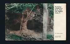 Rocky Fork Ohio OH 1908 Marble Cave Grottos, Highland County - Hand Colored Card