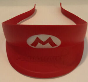 Nintendo Mario Child Plastic Red Push-on Visor Hat, Costume Piece