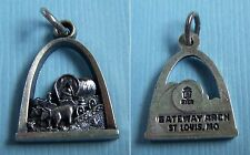 Vintage St. Louis Gateway Arch Missouri covered wagon sterling charm