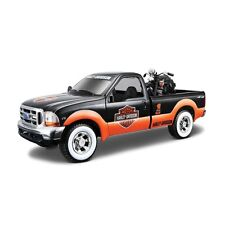 FORD F-350 with HARLEY DAVIDSON MOTORBIKE 1:27 1:24 Metal Diecast Car Model Bike