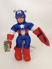 """2013 Marvel Superhero Squad 14"""" Captain America Toy w/ New Sealed Code Plush"""