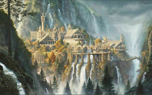 LORD OF THE RINGS BRIDGE PICTURE CANVAS WALL ART 20 X 30 INCH UK SELLER