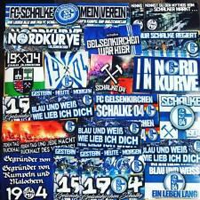 100 x Schalke 04 Ultra Style Stickers Aufkleber based on Shirt Flag Scarf