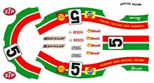#5 Dino Ferrari 1968-1976 Special Racing 1/24th - 1/25th Scale Decals