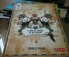 IL GIRO DEL MONDO IN 180 FIGURINE-DIARIO DI VIAGGIO-ALBUM COOP/WWF COMPLETO