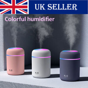 300ml Air Oil Aroma Diffuser Humidifier LED LIGHT UP Electric Essential Purifier