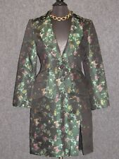 LEA ROME Colorful Floral Embroidered 2 PC Skirt Suit SZ 40