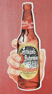 60's Stroh's Die-Cut Beer Sign, Feat. Longneck Bottle, Detroit, MI