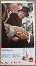 CUTEX original Zeitungswerbung aus 1963 Werbung Reklame
