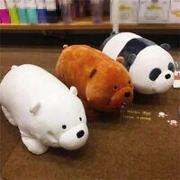 10'' We Bare Bears Panda Plush Doll Soft Animal Lying Plush Toy Pillow Xmas Gift
