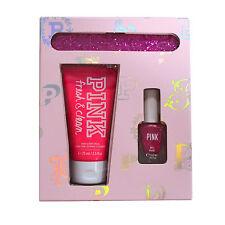 Victoria's Secret Pink Gift Set Fresh & Clean Hand Body Cream Nail Polish File