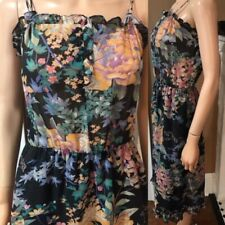 New listing Vintage 70s Floral Cotton Chiffon Boho Dress sz Xs by California Girl ~lovely~