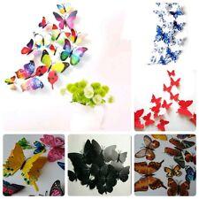Schmetterlinge 12 Stk Farbwahl Frühling Wandaufkleber o Magnet Wand-Sticker K19