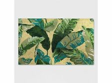 "Threshold- 18"" x 30"" Vacation Tropical Outdoor Doormat Green Qty of 3"