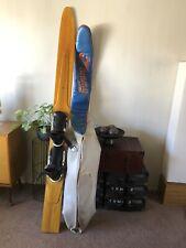 "Vintage Custom Wood Slalom Professional Water Ski With Cover 77"" Display"