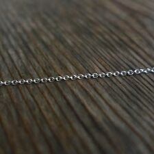 925 Solid Sterling Silver,3.3ft,2mm Unfinished Bulk Cable Chain,DIY Jewelry Make