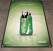 Coca Cola poster green peace panda bear banner can bottle zoo sign bar school B9