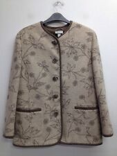 Button Wool Blend Casual Floral Coats & Jackets for Women