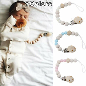 Unisex Dummy Clips Baby Teething Soother Pacifier Clip Chain Holder Strap  UK
