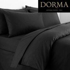 Black Luxurious Dorma Double duvet Cover 350 Thread Count, 100% Cotton Satin