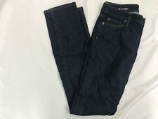 Ann Taylor LOFT Womens Dark Wash Original Straight Leg Jeans Size 26/2T