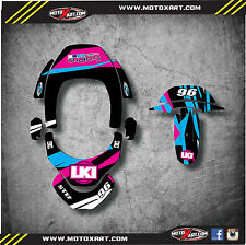 Leatt Brace club sport 2 custom rider id kit - decals / stickers DUKE STYLE