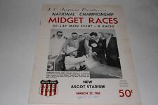 Midget Car Auto Racing Program, Ascot Stadium, April 2 1960