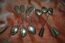 Russian gilded  silver  spoons 84