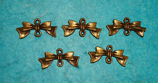 Pendant Bow Charms Bronze Charm Connector Charm Jewelry Finding Connectors Bows