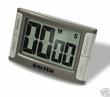 Salter 396 Contour Magnetic Electronic Timer Silver with Digital Display