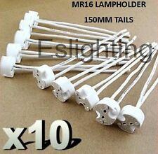 10 X MR16 GU5.3 12V LED DOWNLIGHT DOWN LIGHTS LAMP HOLDER BULB CONNECTOR ADAPTOR