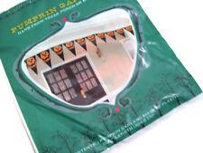Halloween Plastic Pumpkin Triangle Flag Pumpkin Garland 10FT Set of 2 Brand New