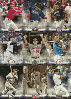 2018 Topps Update TOPPS SALUTE Complete Insert Set (50 Cards) Acuna-Ohtani-Soto+