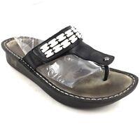 Alegria PG Lite Thong Flip Flops Sandal Beaded Adjustable Strap CAR-611 Size 39
