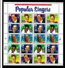 USA 1993 Popular Singers MS sheet MNH