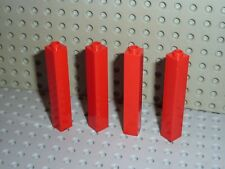 4 x Murs LEGO Red bricks 2453 / set 1490/6563/6278/6571/4539/6389/6292/7208...