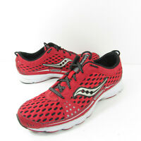 Saucony Grid Type A2 Lightweight Racing Red Silver Running Shoes Mens Size 9.5