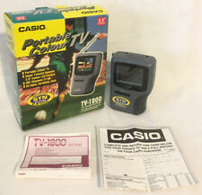 """Casio TV-1800 2.5"""" LCD Portable Pocket Colour TV Television Boxed Working"""