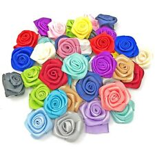25mm Rose Satin Ribbon Flowers Roses Craft Decorative Craft Flowers