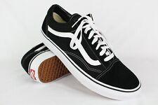Vans Men's Ward Low Skateboarding Sneakers Canvas Suede 12m Black White