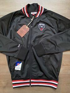 Mens Size XL DC United Mitchell & Ness Track Jacket Black MLS