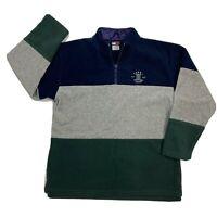 VTG Tommy Hilfiger Colorblock 90s 1/4 Zip Fleece Pullover Mens Sweater Size XL