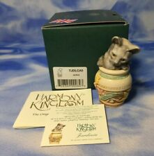 "New Htf Uk Version 1 Harmony Kingdom ""Jardinia"" Cat Box Figurine Tjdlca5 Nib"