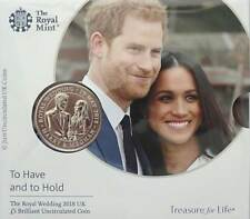 2017 Royal Mint Prince Harry Meghan Royal Wedding £5 Five Pound Coin Pack