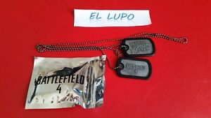 DOG TAG BATTLEFIELD 4 NEUF PLAQUE MILITAIRE
